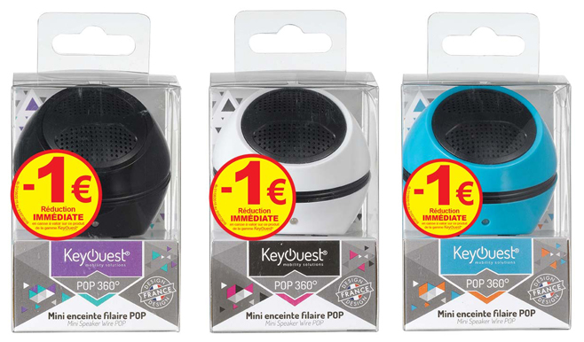 Enceintes POP 360° KeyOuest 1€ réduction