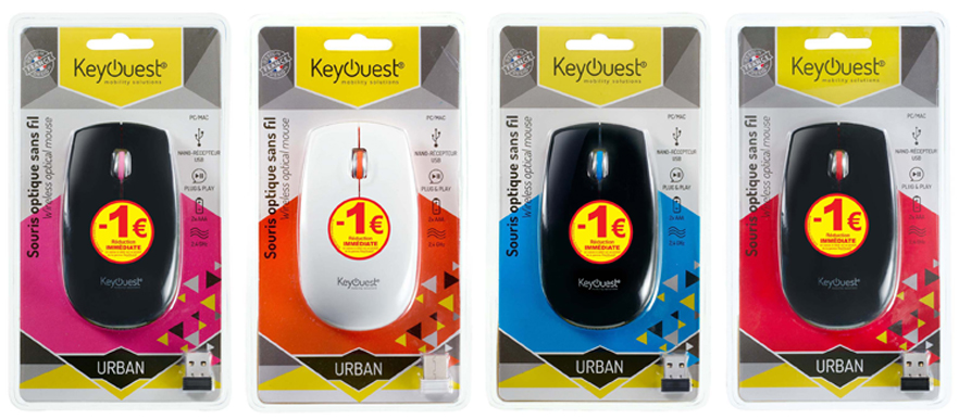Souris sans fil URBAN KeyOuest 1€ réduction
